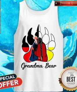 Funny Native Grandma Bear Tank Top