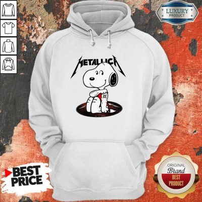Funny Snoopy Tattoo Metallica Hoodiea