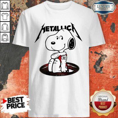 Funny Snoopy Tattoo Metallica Shirt