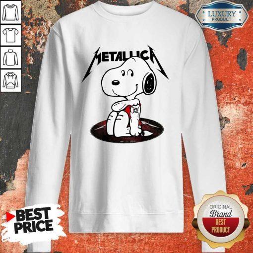 Funny Snoopy Tattoo Metallica Sweatshirt