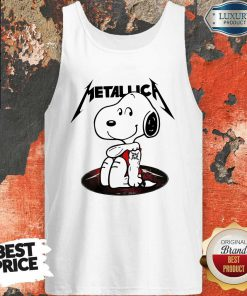 Funny Snoopy Tattoo Metallica Tank Top