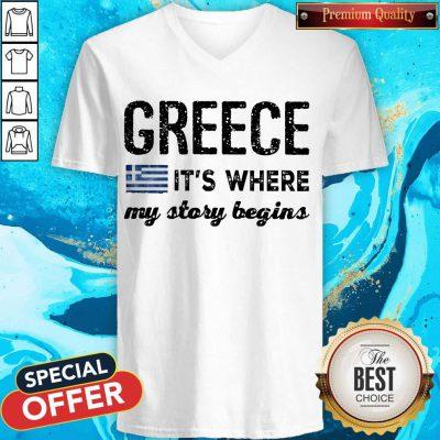 Good Greece It_s Where My Story Begins V- neck
