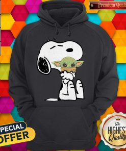 Good Snoopy Hug Baby Yoda Hoodie