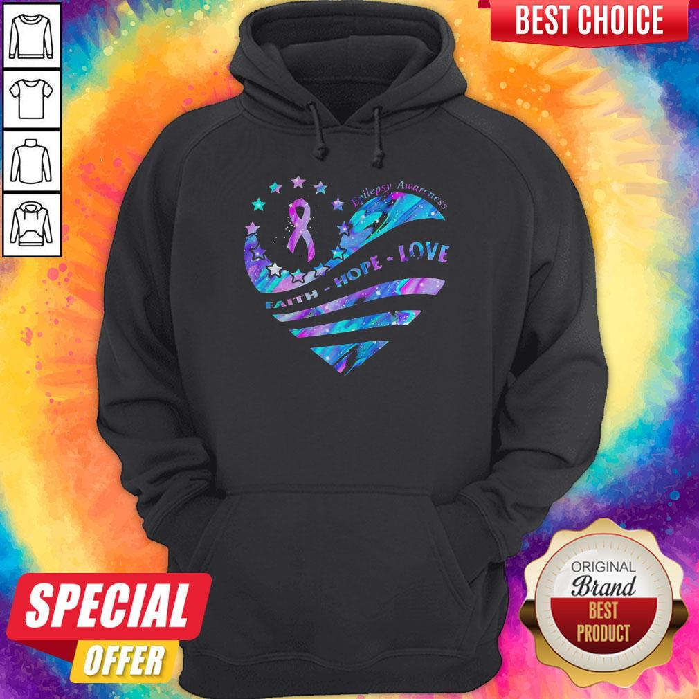 Heart Cancer Epilepsy Awareness Faith Hope Love Hoodiea