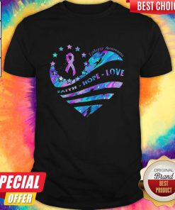 Heart Cancer Epilepsy Awareness Faith Hope Love Shirt