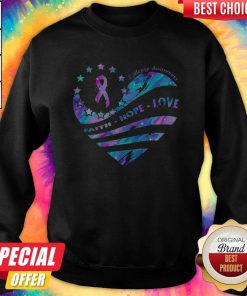 Heart Cancer Epilepsy Awareness Faith Hope Love weatshirt