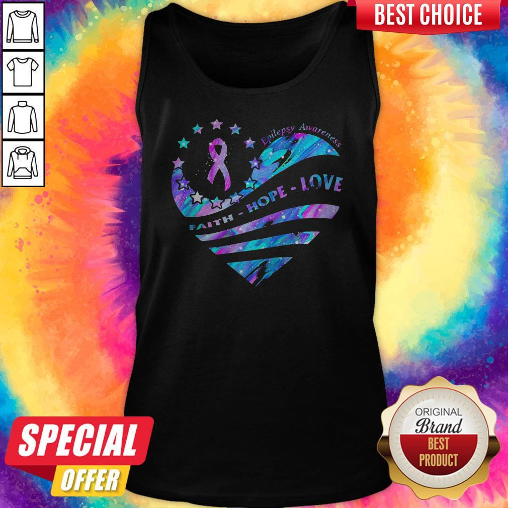 Heart Cancer Epilepsy Awareness Faith Hope Love Tank Top