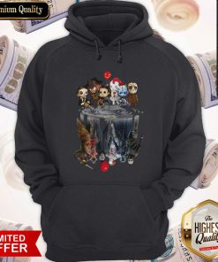 Horror Characters Movies Water Mirror Reflection Halloween Hoodiea