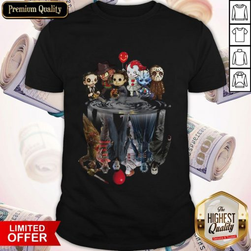 Horror Characters Movies Water Mirror Reflection Halloween Shirt