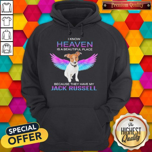 I Know Heaven Is A Beautiful Place Because They Have My Jack Russell Angel Hoodiea