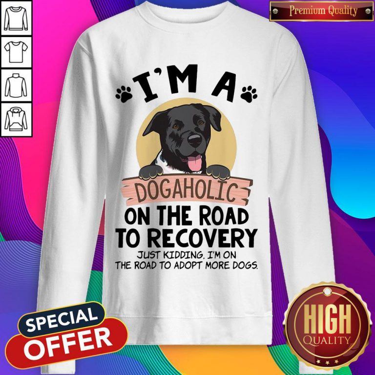 I'm A Dogaholic On The Road To Recovery Just Kidding weatshirt