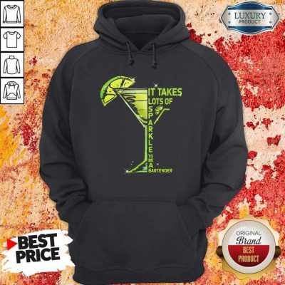 It Takes Lots Of Sparkle To Be Bartender Glass Lemon Hoodiea
