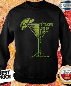 It Takes Lots Of Sparkle To Be Bartender Glass Lemon weatshirt