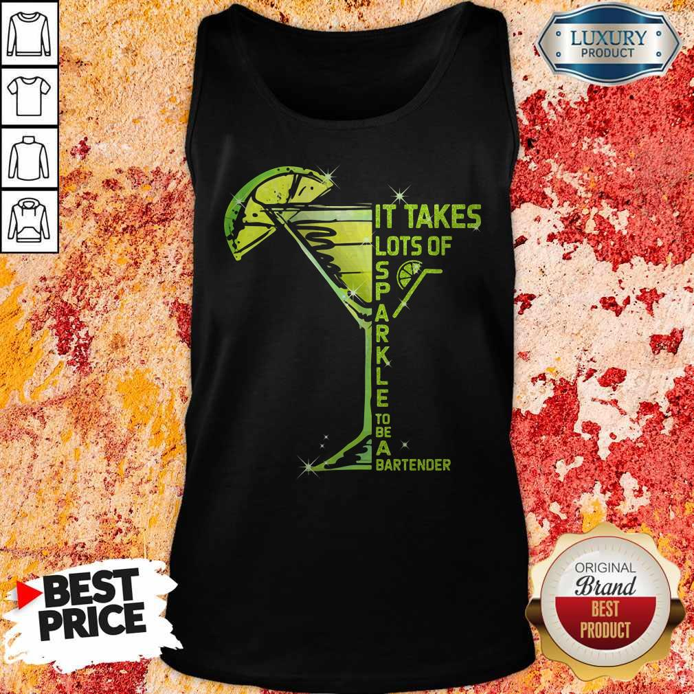 It Takes Lots Of Sparkle To Be Bartender Glass Lemon Tank Top