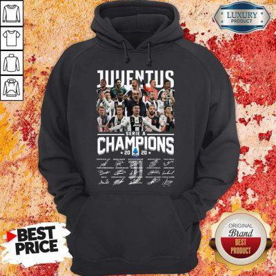 Juventus Serie A Champions 2020 Signatures Hoodie