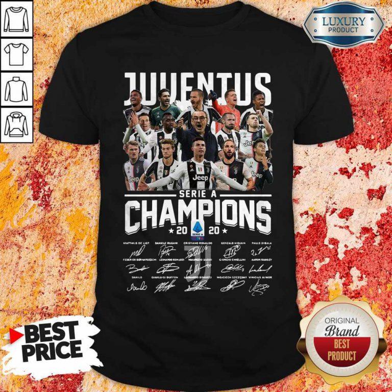 Juventus Serie A Champions 2020 Signatures Shirt