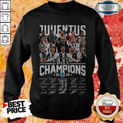 Juventus Serie A Champions 2020 Signatures weatshirt