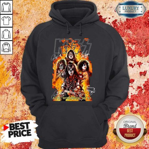 Kiss signatures Alive worldwide 96 97 Hoodie
