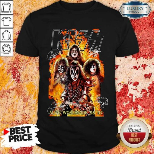 Kiss signatures Alive worldwide 96 97 Shirt