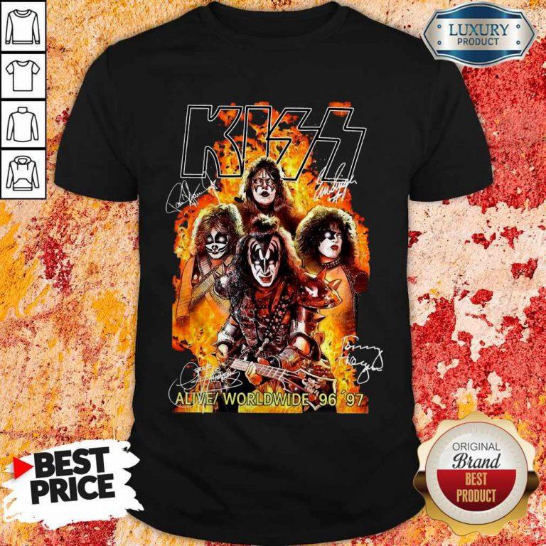 Kiss signatures Alive worldwide 96 97 Shirt