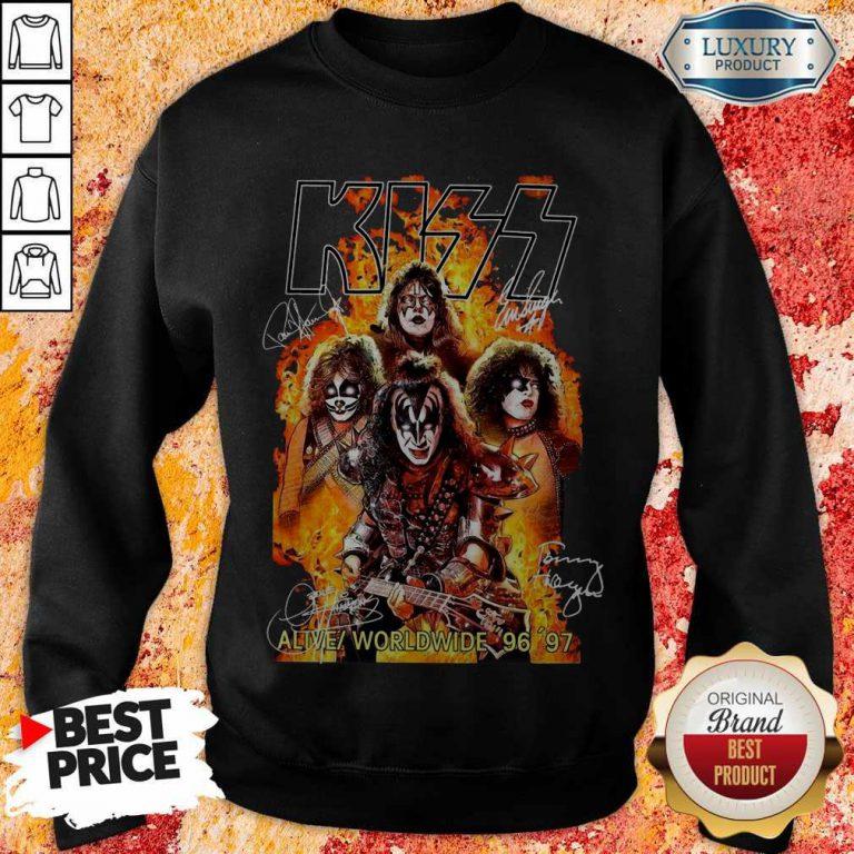 Kiss signatures Alive worldwide 96 97 weatshirt