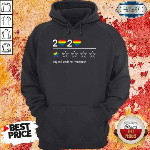 Lgbt 2020 Heart Very Bad Would Not Recommend Stars Hoodiea