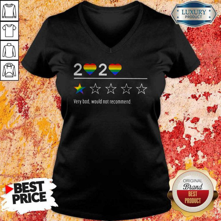 Lgbt 2020 Heart Very Bad Would Not Recommend Stars V- neck