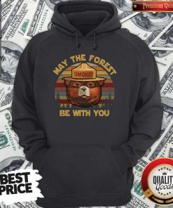 May The Forest Smokey Be With You Vintage Retro Hoodie