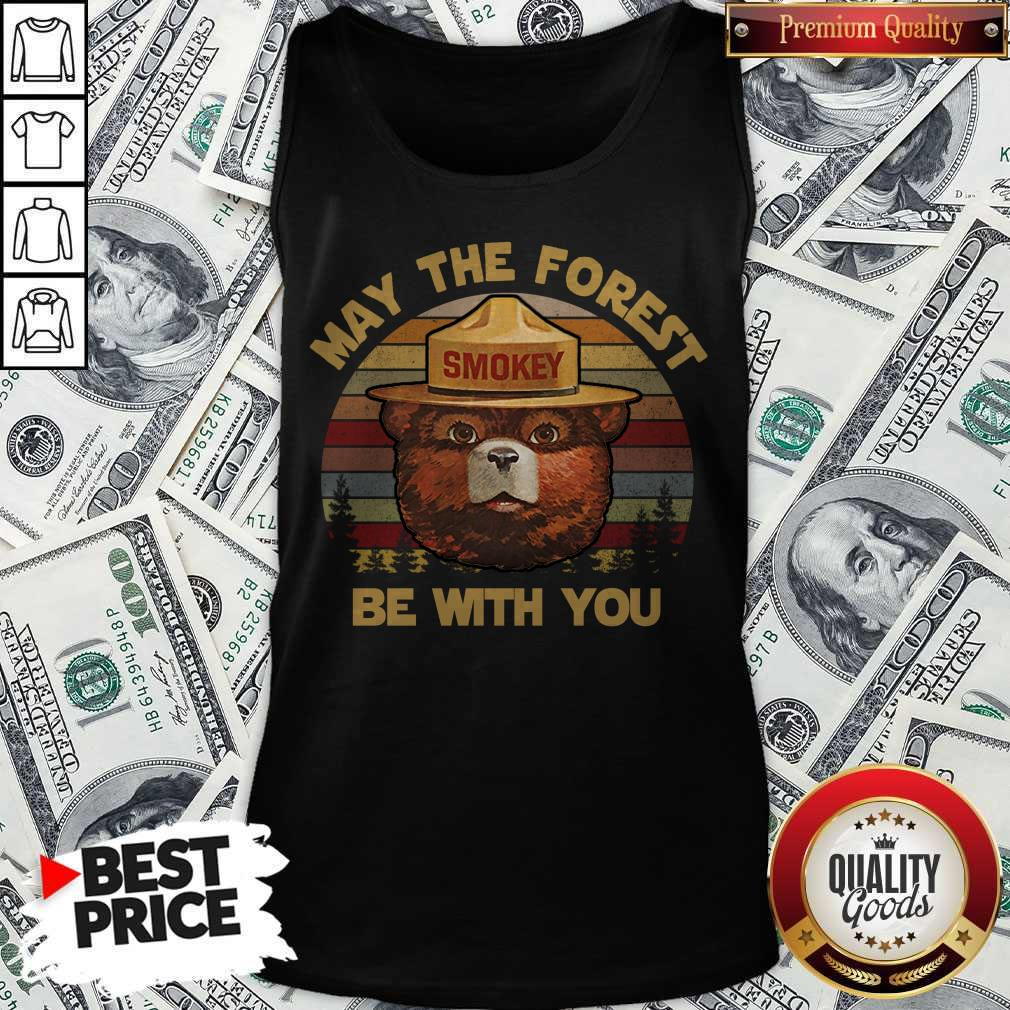 May The Forest Smokey Be With You Vintage Retro Tank Top