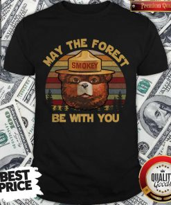 May The Forest Smokey Be With You Vintage Retro Shirt