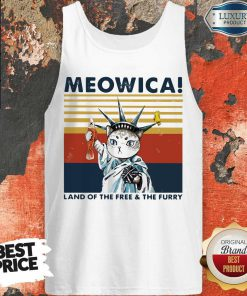 Meowica Land Of The Free And The Furry Vintage Retro Tank Top