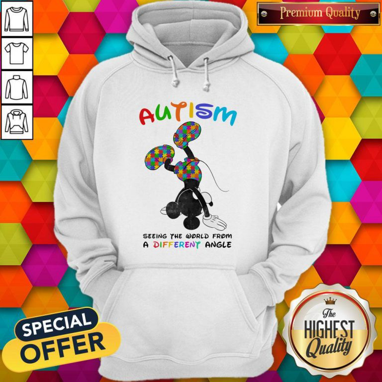 Mickey Mouse Autism Seeing The World From A Different Angle Mickey Mouse Autism Seeing The World From A Different Angle Hoodiea