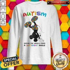 Mickey Mouse Autism Seeing The World From A Different Angle weatshirt