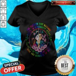 Mulan The Flower That Blooms In Adversity Is The Most Rare And Beautiful Of All V- neck