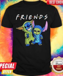 Nice Baby Yoda And Baby Stitch Friends Shirt