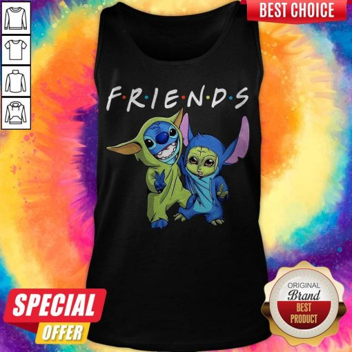 Nice Baby Yoda And Baby Stitch Friends Tank Top