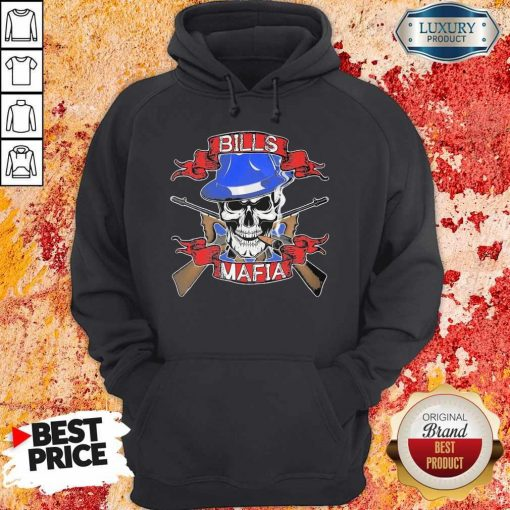 Nice Skull Bills Mafia T- Hoodie