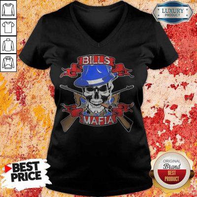 Nice Skull Bills Mafia T- V- neck
