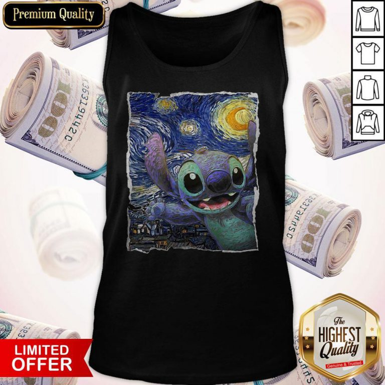 Official Stitch Starry Night Tank Top