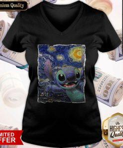 Official Stitch Starry Night V- neck