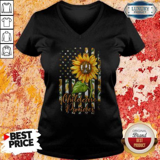 Official Sunflower Proud Childcare Provider V- neck