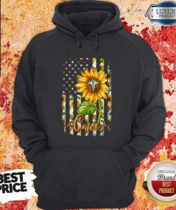 Official Sunflower Proud Cna Hoodiea