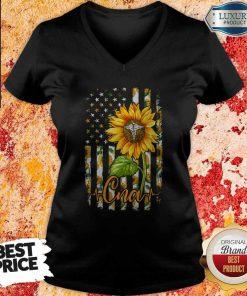 Official Sunflower Proud Cna V- neck
