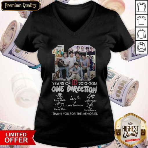 One Direction Thank You For Everything Signature V- neck