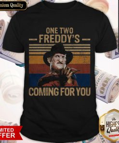One Two Freddys Coming For You Vintage Shirt