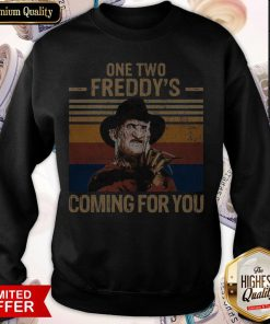 One Two Freddys Coming For You Vintage weatshirt