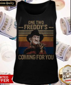 One Two Freddys Coming For You Vintage Tank Top