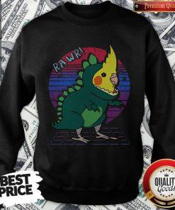 Original Vaporwave Cockatiel Dinosaur weatshirt