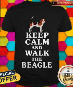 Top Keep Calm And Walk The Beagle Shirt