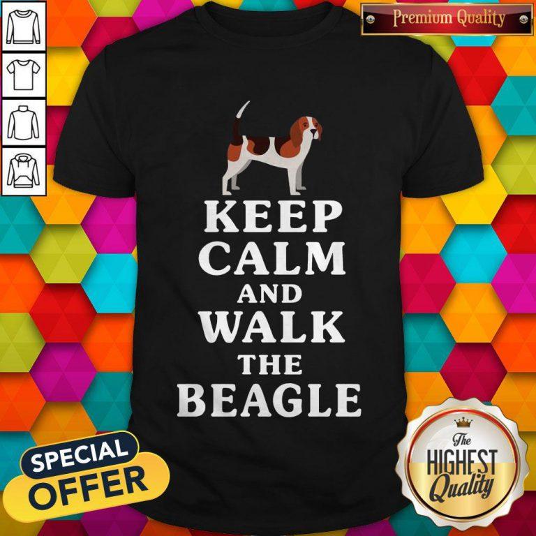 Top Keep Calm And Walk The Beagle Shirt